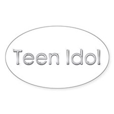 Teen Idol Oval Decal