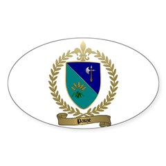 PAUZE Family Crest Oval Decal