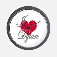 I love (heart) Dylan Wall Clock