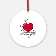 I love (heart) Dwight Ornament (Round)