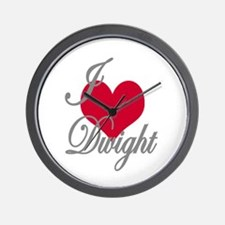 I love (heart) Dwight Wall Clock