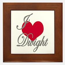I love (heart) Dwight Framed Tile