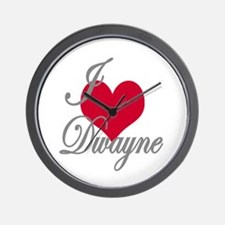 I love (heart) Dwayne Wall Clock