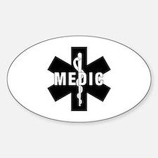 Medic EMS Star Of Life Sticker (Oval)
