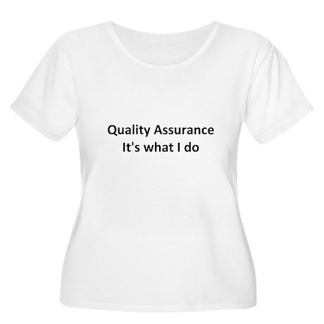 QA Women's Plus Size Scoop Neck T-Shirt