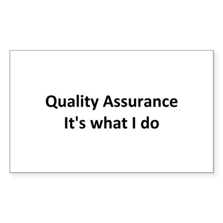 QA Rectangle Sticker 10 pk)
