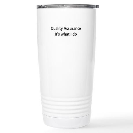 QA Stainless Steel Travel Mug