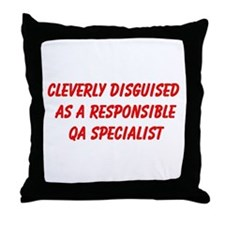 QA Specialist Throw Pillow