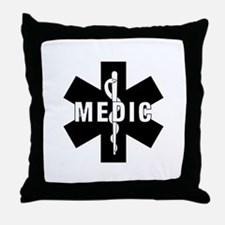 Medic EMS Star Of Life Throw Pillow
