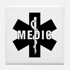 Medic EMS Star Of Life Tile Coaster