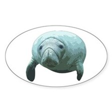 Manatee Oval Decal