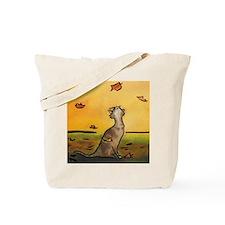 Falling Leaf Cat Tote Bag