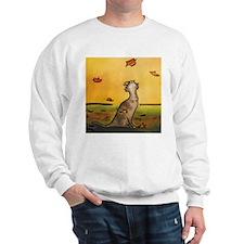 Falling Leaf Cat Sweatshirt