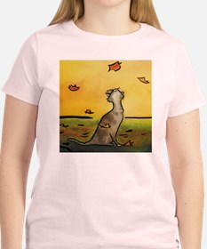 Falling Leaf Cat T-Shirt