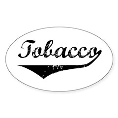 Tobacco Oval Decal