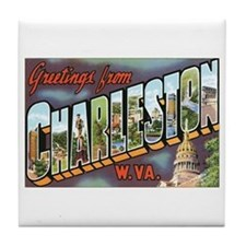 Charleston WV Tile Coaster