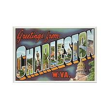 Charleston WV Rectangle Magnet
