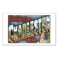 Charleston WV Rectangle Decal