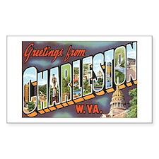 Charleston WV Rectangle Sticker 10 pk)