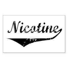 Nicotine Rectangle Decal