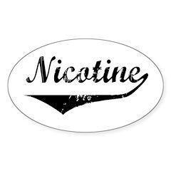 Nicotine Oval Decal
