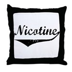 Nicotine Throw Pillow
