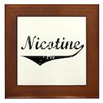 Nicotine Framed Tile