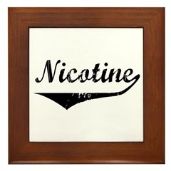 Nicotine Framed Tile