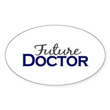 Future Doctor Oval Decal