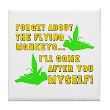 Unique Wizard oz flying monkeys Tile Coaster