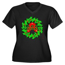 Tappy Holidays Designs for Ta Women's Plus Size V-