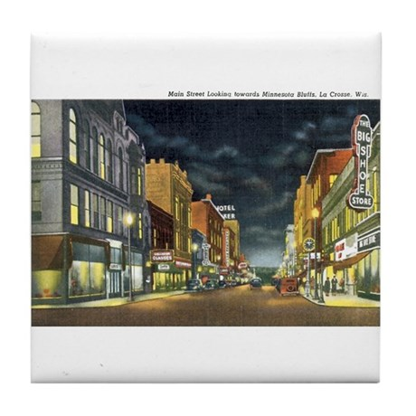 La Crosse Wi Tile Coaster By Caferetro