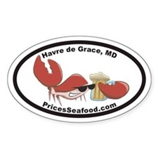 Price's Seafood Euro Oval Decal