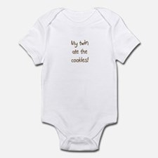 My twin ate the cookies Infant Bodysuit