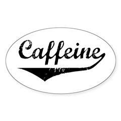 Caffeine Oval Decal
