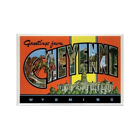 Cheyenne WY Rectangle Magnet (10 pack)