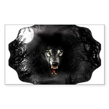 Wolf Night Rectangle Decal