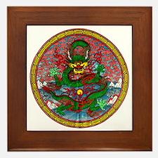 Tibetan Dragon Framed Tile