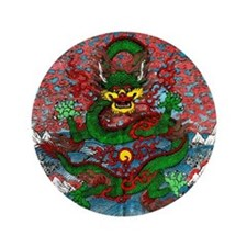 "Tibetan Dragon 3.5"" Button"