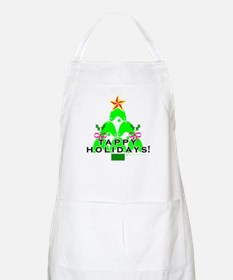 Tappy Holidays Christmas Tree BBQ Apron