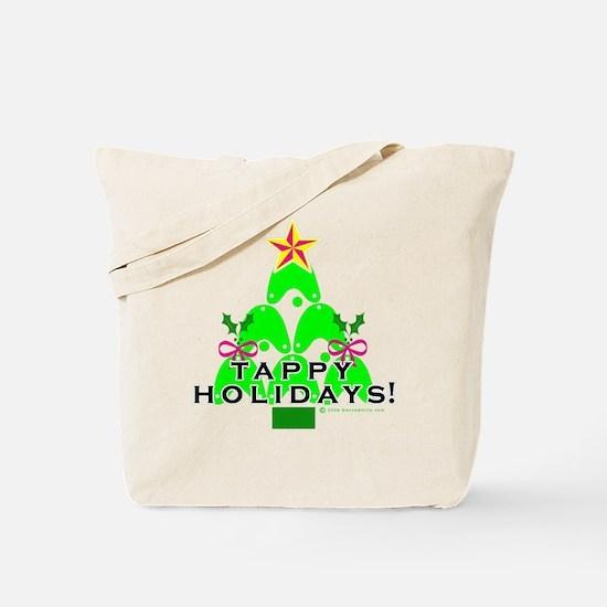 Tappy Holidays Christmas Tree Tote Bag