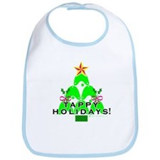 Tappy Holidays Christmas Tree Bib
