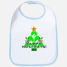Tappy Holidays Christmas Tree Bib