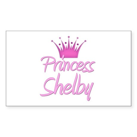 Princess Shelby Rectangle Sticker