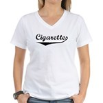 Cigarettes Women's V-Neck T-Shirt
