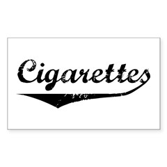 Cigarettes Rectangle Decal