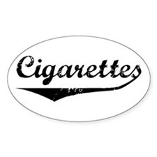 Cigarettes Oval Decal