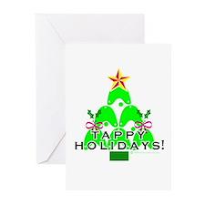 Tappy Holidays Christmas Tree Greeting Cards (Pk o