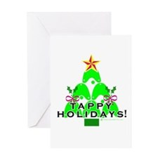 Tappy Holidays Christmas Tree Greeting Card