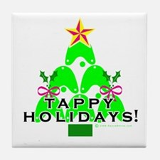 Tappy Holidays Christmas Tree Tile Coaster
